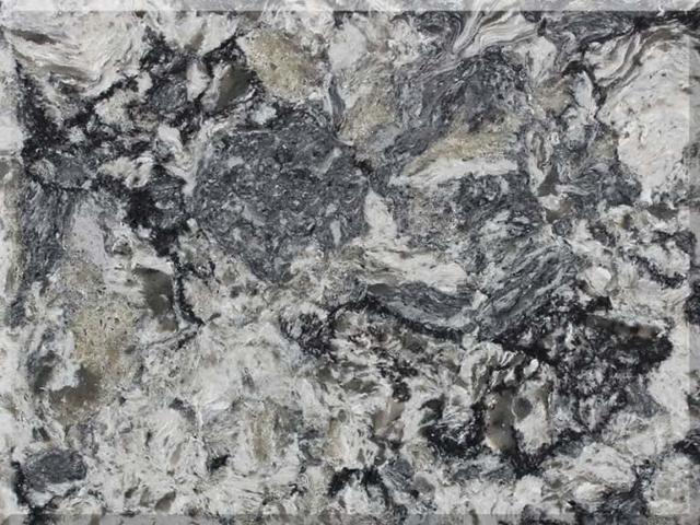 Цветовая палитра кварцевый камень Vicostone Granite Looking Azul Aran BQ9470