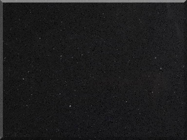 Цветовая палитра кварцевый камень Vicostone Classic Crystal Black BQ 262 BQ262 Crystal Black