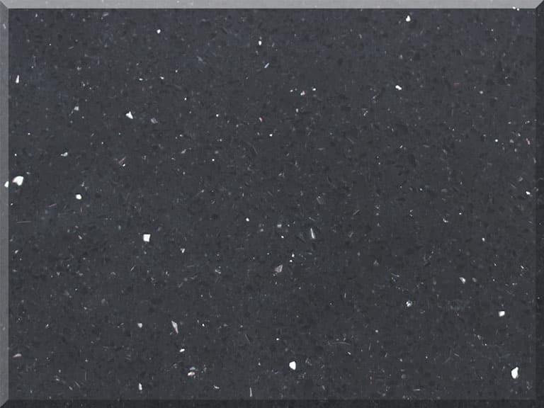 Цветовая палитра кварцевый агломерат Vicostone Sparkling Black BC 1000 BC1000 Sparkling Black