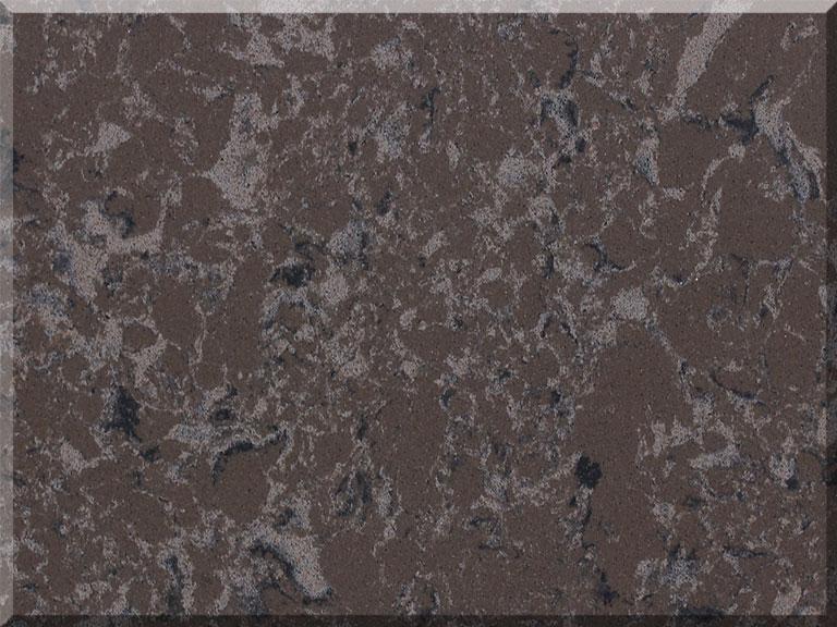 Цветовая палитра кварцевый камень Vicostone Marble Effect BQ9360 Titanium Brown