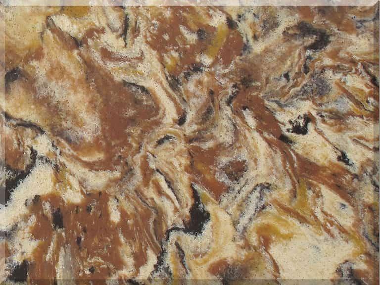 Цветовая палитра кварцевый камень Vicostone Tiger BQ9438